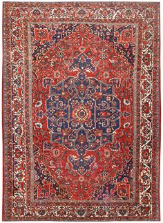 Antique Persian Bakhtiari Carpet 50090