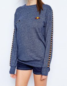 f8e4d39912d Image 3 of Ellesse Oversized Crew Neck Sweatshirt With Tape Detail Latest  Fashion Clothes, Fashion