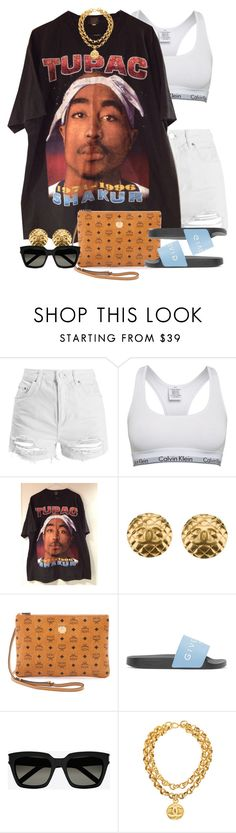 """""""Untitled #1572"""" by power-beauty ❤ liked on Polyvore featuring Topshop, Calvin Klein, Chanel, MCM, Givenchy and Yves Saint Laurent"""