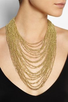 Love this stunning Rosantica necklace found on net-a-porter.com #statementnecklace #Rosantica