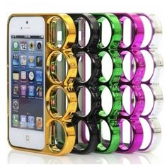 The Knuckle case is a solid plastic case with an aluminum sheen and totally recyclable.