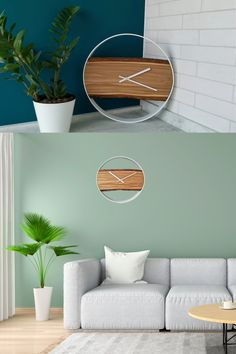 This gorgeous large wall clock is made of elm wood and is perfect for rustic decor. #woodwallclock #liveedgewoodslab #clocksforwall #farmhousewallclock #farmhousewalldecor #kitchenwallclock #decorativeclock #farmhouseclock #hangingclock #kitchenclock #largewallclock #liveedgeclock #minimalistclock #modernwallclock #modernwoodclock #naturalwoodclock #farmhousedesign #farmhousestyle #farmhouselivingroomdesign #rusticwallclock #rusticwoodclock #silentwallclock #uniquewallclock #woodenclock #loft Unique Wall Clocks, Wood Clocks, Big Wall Art, Wood Wall Art, Farmhouse Wall Decor, Rustic Decor, Minimalist Wall Clocks, Kitchen Wall Clocks, Country House Interior