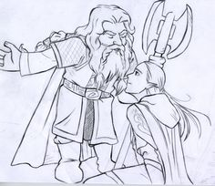 Gimli and Legolas at Helm's Deep by `EmberRoseArt on deviantART.
