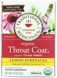 Traditional Medicinals Tea Throat Coat Lemon 16 Bg Pack of 6 Review Buy Now Best thing for your throat!