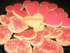 Gluten Free Valentine Sugar Cookies. Or anytime cookies. Why wait for a holiday?