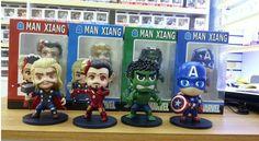 The Avengers Thor Loki Batman Hulk Captain America Iron Man 12cm PVC Action Figure Model Toys Gifts