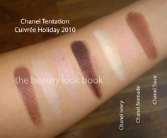 Chanel comparison swatches