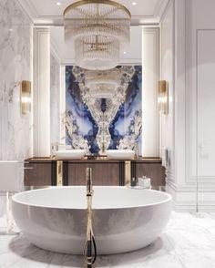 Home Room Design, Dream Home Design, Home Interior Design, House Design, Dream Bathrooms, Beautiful Bathrooms, Old Bathrooms, Glamorous Bathroom, Bathroom Inspiration