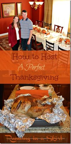 How to Host Thanksgiving | Running in a Skirt A timeline of everything you need to do to host a perfect or your first Thanksgiving. Includes lots of ideas on how to set a menu and schedule cooking all that food! #thanksgiving #holiday #hosting www.RunninginaSkirt.com