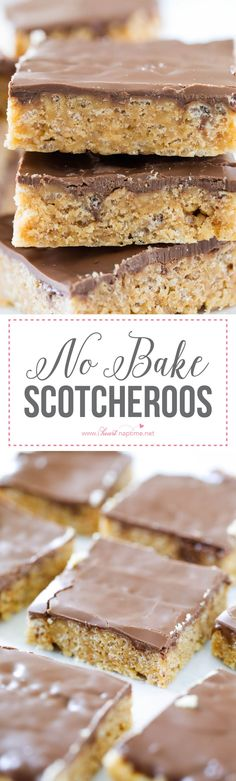 No Bake Scotcheroos