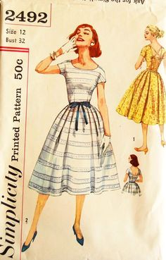 Vintage 1950s sewing pattern