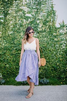 DIY Ruffle Hem Wrap Skirt
