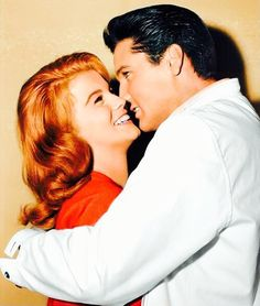Elvis Presley and Ann Margret in a publicity still... - The Presleys