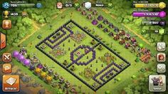 Clash of Clans | Soccer Field Base Design | #clashofclans