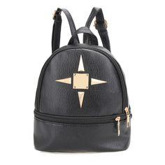 New Fashion PU Leather Ladies Multifunction Mini Backpack Shoulder Bag School Bags for Teenage Girls Rucksacks mochila feminina