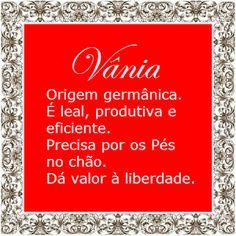 Significado do nome Vânia   Significado dos Nomes