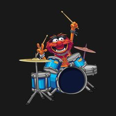 Check out this awesome 'Animal+Drummer+The+Muppets+Show' design on Looney Tunes Wallpaper, Cartoon Wallpaper, Drummer Quotes, Drums Wallpaper, Animal Muppet, Die Muppets, Drums Art, The Muppet Show, Disney Mouse