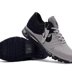 online retailer 12121 0f50f Nike Air Max 2017 Men Black Grey Running Shoes