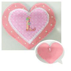 Coração em feltro para quarto de bebê ( by Anapsiana)