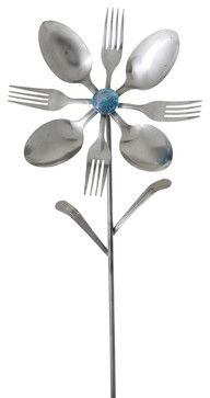 Calypso Flower - contemporary - Garden Statues And Yard Art - Forked Up Art, LLC