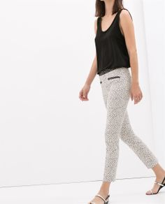 ZARA - NEW THIS WEEK - TROUSER WITH CONTRASTING WAISTBAND