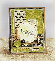 You're My Luck Charm handmade card by Amy Sheffer