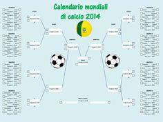 Il calendario dei mondiali di calcio da stampare