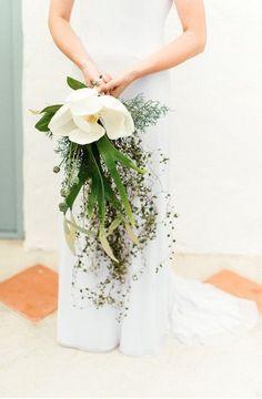 magnolia wedding bouquet wedding flowers - Page 11 of 101 - Wedding Flowers & Bouquet Ideas Wedding Flower Guide, Cheap Wedding Flowers, Wedding Tips, Destination Wedding, Dream Wedding, Wedding Venues, Simple Wedding Bouquets, Irish Wedding, Wedding Story