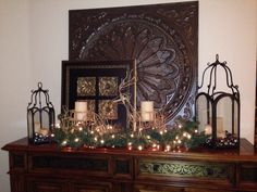 Dining room buffet christmas