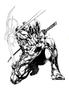 deadpool coloring pages pdf coloring pages Pinterest Deadpool