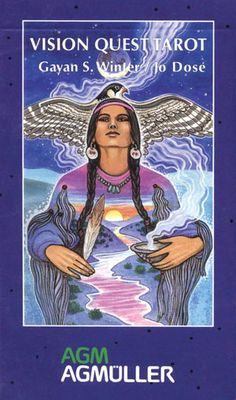 Vision Quest Tarot allows us to recognize archetypal images with both the spirit of traditional tarot as well as the tribal shaman & the spirit of the medicine wheel. Through this soothing imagery, we discover new aspects of our subconscious & learn to understand its messages of dealing with life's challenges with creativity & insight. In the Minor Arcana, Arrows & Wands represent Fire. Jars & Bowls represent Water. Feathers & Birds represent Air. Vegetables & Flowers represent Earth.