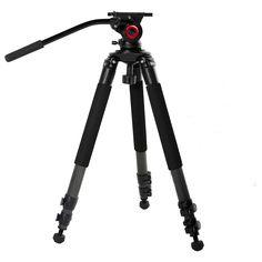 Miliboo IronTower MTT701B of Carbon Fiber professional camera light weight video tripod stand Fluid head MYT802 can put slide