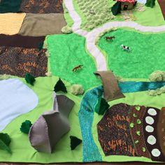 Playscape, Play Mat, Farmyard Play Mat, Fields Play Scape Mat - 120x120 cm Pretend PlayMat by VividLeaf on Etsy https://www.etsy.com/au/listing/469521483/playscape-play-mat-farmyard-play-mat