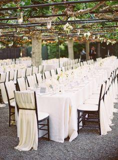Gorgeous reception table: http://www.stylemepretty.com/2014/06/18/black-tie-al-fresco-affair-in-napa/   Photography: Kurt Boomer - http://kurtboomer.com/