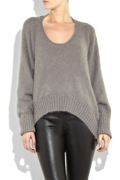 slouchy sweaters nice neck to hem shaping