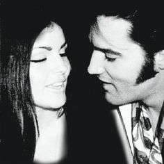 """Lisa Marie has been deleted from the photo (original shows her """"between"""" Elvis and Priscilla. Elvis Presley Priscilla, Elvis Presley Family, Elvis Presley Photos, Lisa Marie Presley, Bridesmaid Outfit, Cinema, Graceland, Wedding Tips, Wedding Ceremony"""