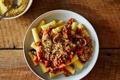 Minus the noodles.A Humble but Mighty Lentil Bolognese on Gena's vegan lentil bolognese has all the heartiness of the traditionally meat-based dish -- and it even comes with a quick recipe for cashew Parmesan. Vegan Lentil Recipes, Vegetarian Recipes, Vegetarian Cooking, Whole Food Recipes, Cooking Recipes, Pasta Recipes, Raw Recipes, Healthy Recipes, Healthy Meals