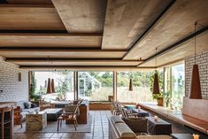The new noma restaurant village named the world?s best restaurant four times was recently completed to plans by BIGBjarke Ingels Group. in News Design. Timber Ceiling, Wooden Ceilings, Ceiling Fan, Noma Restaurant, Restaurant Design, Restaurant Lounge, Big Design, House Design, Ceiling Detail