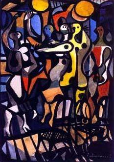 Grupo carnavalesco II, década de 1960 Di Cavalcanti (Brasil, 1897-1976) óleo sobre tela