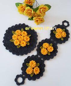 Bobble Stitch, Crochet Tablecloth, Crochet Granny, Diy And Crafts, Crochet Necklace, Crochet Patterns, Reindeer, Crochet Flowers, Towels