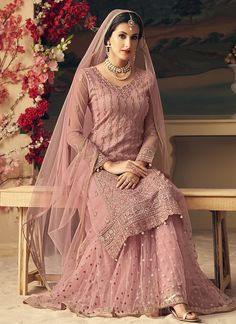 Looking to buy salwar kameez? ✓ Shop the latest dresses from India at Lashkaraa & get a wide range of salwar kameez from party wear to casual salwar suits! Nikkah Dress, Shadi Dresses, Pakistani Formal Dresses, Pakistani Wedding Dresses, Pakistani Dress Design, Pakistani Gowns, Lehnga Dress, Indian Wedding Gowns, Indian Bridal Outfits