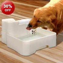4L Large Pet Dog Cat Filtered Water Drinking Fountain - 4 Litres - Carbon Purification - Quiet Operation