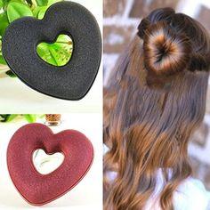 Women Girl Hair Styling Heart Shaped Updo Bun Maker DIY Holder Hair Accessory #haircaretoolsholder,