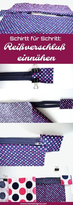 Tutoriel: Coudre la fermeture à glissière - Nähen - Ideen und Inspirationen zum Selbernähen - Sewing Hacks, Sewing Tutorials, Sewing Tips, Dress Tutorials, Diy Couture, Old Shirts, Leftover Fabric, Love Sewing, Sewing Coat