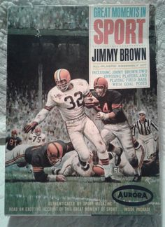Aurora Great Moments in Sport Jimmy Brown Aurora Model Kit  Missing Decals Only  #Aurora