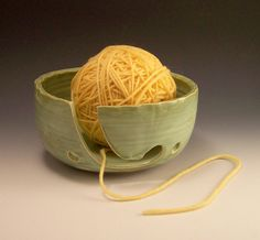 yarn bowl- definitely need to make a few of these