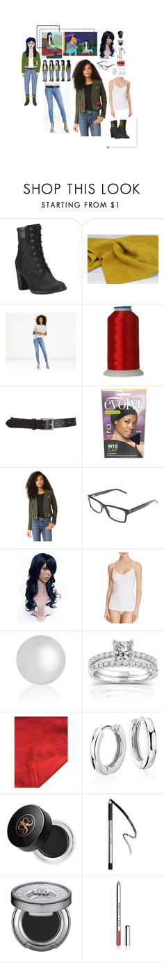 """Costume: Diane Nguyen"" by lavenderblush ❤ liked on Polyvore featuring Timberland, Levi's, Barneys New York, Blank Denim, Burberry, Ferrari, Yummie by Heather Thomson, Annello, Blue Nile and Anastasia Beverly Hills"