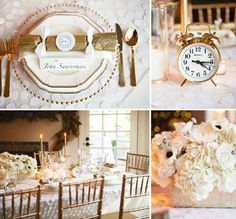 The countdown to 2014 has officially begun! Get inspired by this gorgeous Gold & White New Year's Eve Party