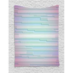 Modern Decor Tapestry, Fractal Abstract Minimalist Digital Futuristic Style Pattern Computer Art , Wall Hanging for Bedroom Living Room Dorm Decor, 40W X 60L Inches, Lilac Blue, by Ambesonne #minimalistdecor