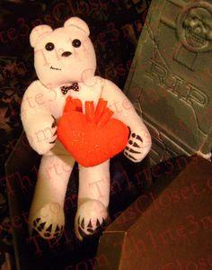 Deadly Bear  Valentine Undead Teddy Bear Plush by Th1rte3nsCloset, $70.00